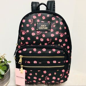 Juicy Couture Black Rose Neón Lights Backpack
